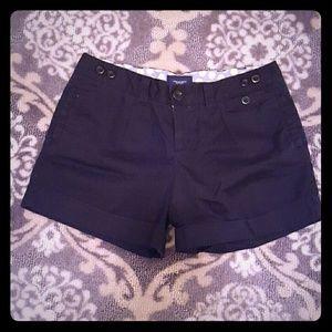American Eagle black trouser shorts size 8